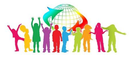 crianças à volta do mundo