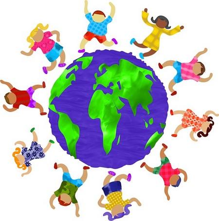 Crianças dançam à volta do mundo