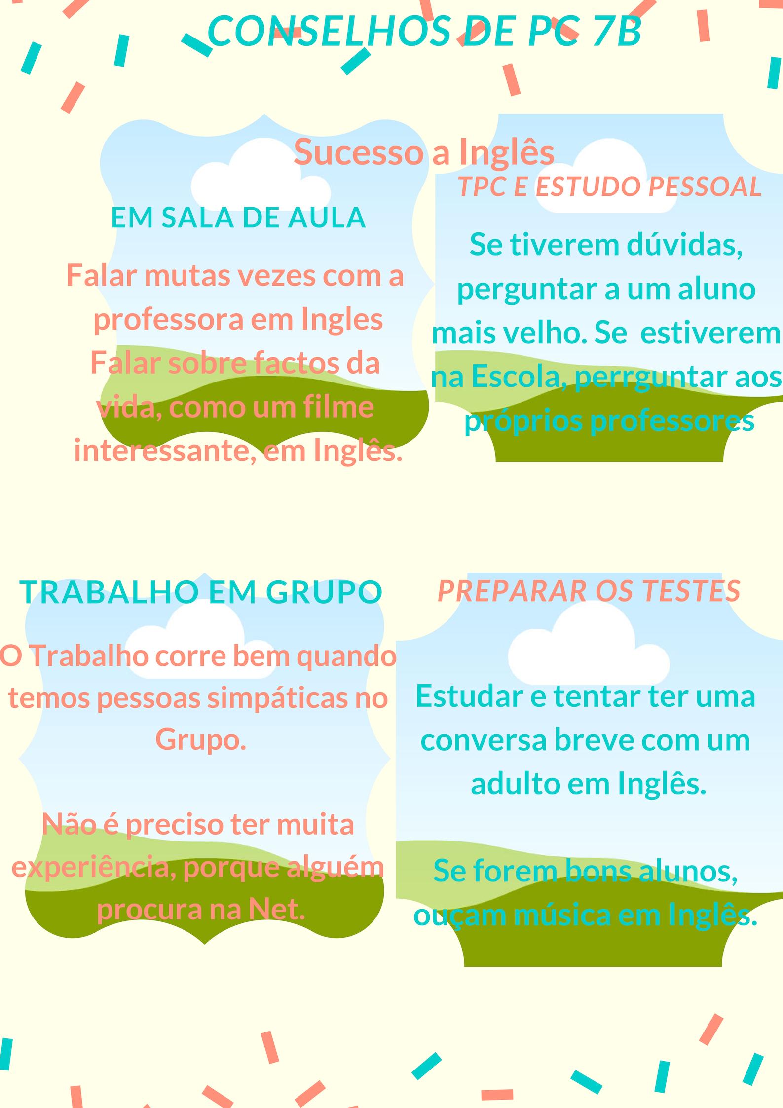 conselhos para um bom estudo a Inglês