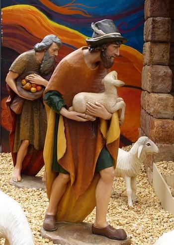 pastores que vão para o Presépio