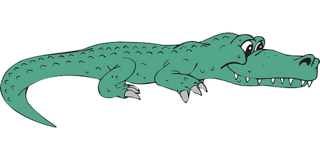 crocodilo sorridente