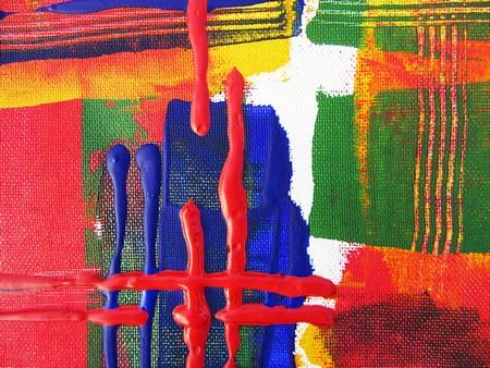 pintura abstrata, imitando o entretecer num tear