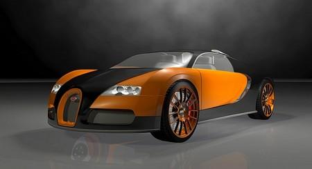 bugatti veyron preto e laranja