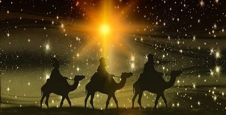 os três reis magos seguem a estrela