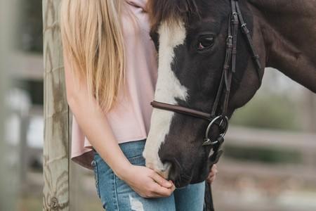 corpo de menina e cabeça de cavalo