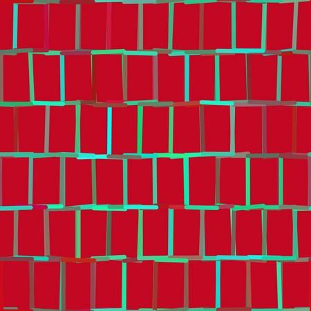 muro de tiojolos vermelhos rodeados de linha verde