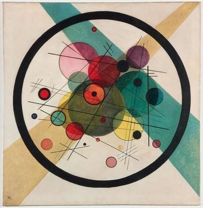 círculo nos círculos de kandinsky