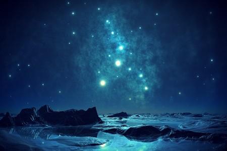 estrelas como sinos no céu