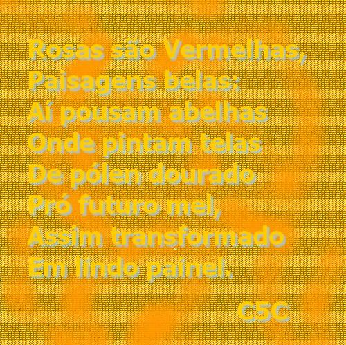 poesia sobre o painel dourado do mel que as abelhas pintam