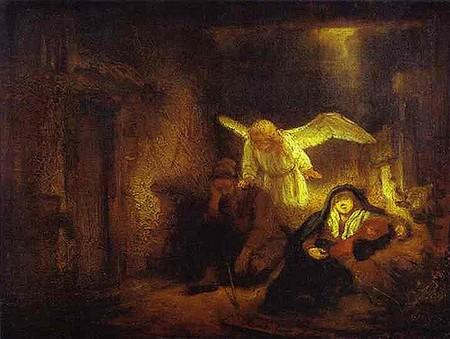 o sonho de José, de Rembrandt
