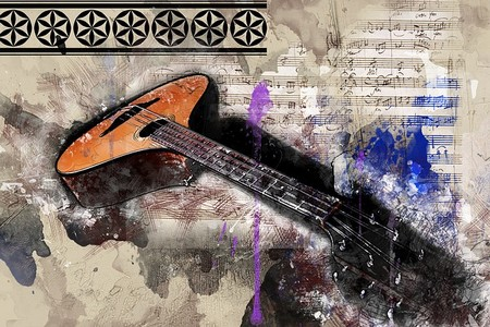 guitarra composição de fantasia