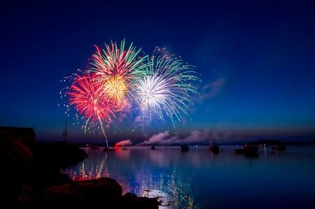 fogo de artifício na baía de Sydney
