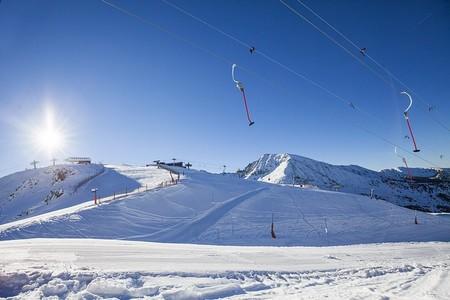 paisagem de ski em Andorra