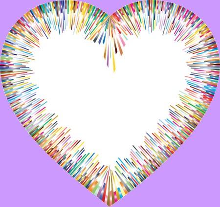 coração colorido e vazio
