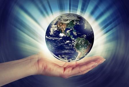 o mundo numa mão aberta