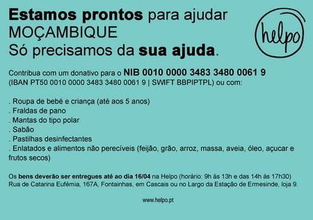 campanha da helpo a favor de Moçambique