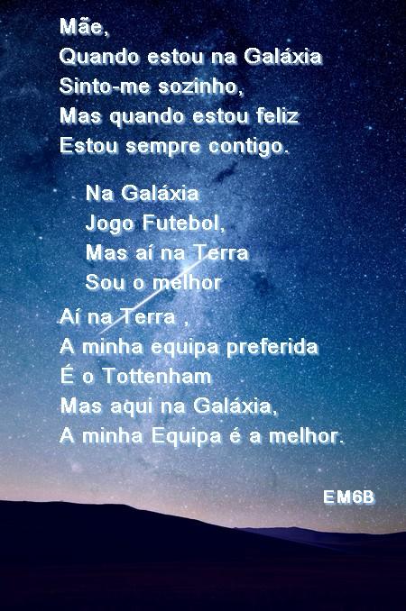 poema contra o fundo da galáxia