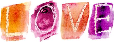 love em pintura de várias cores