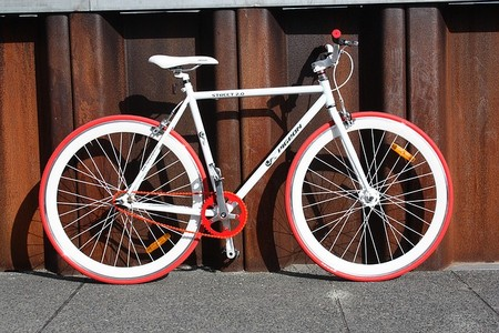 bicicleta vermelha