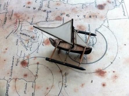 barco sobre mapa