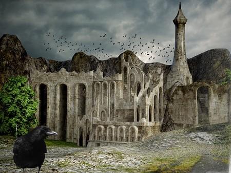 templo em ruínas