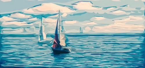 veleiros no mar