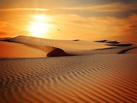 poente no deserto