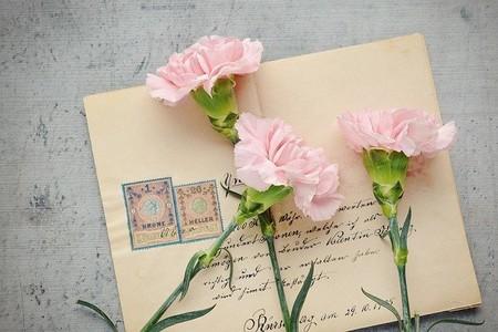 carta e flores