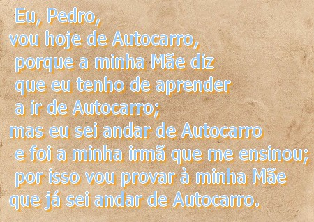 recado do Pedro