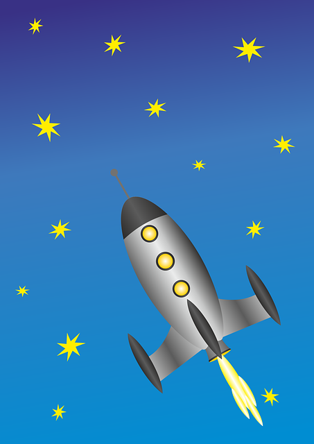 foguetão entre as estrelas