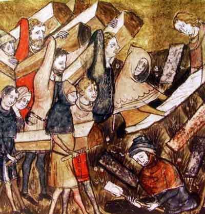 funeral de vítimas da peste