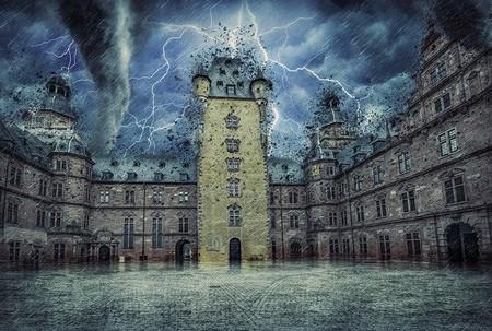 A Tempestade envolvia o Castelo